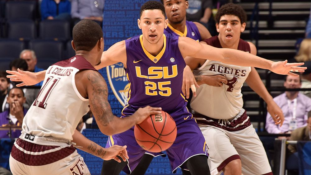 Aussie ace Ben Simmons guards for LSU. (Getty)