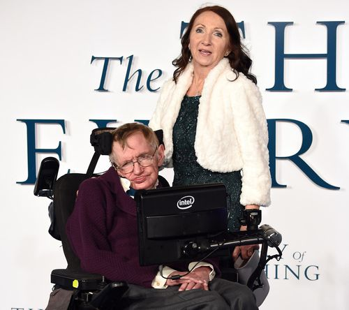 Professor Hawking and his first wife Jane at the 'The Theory of Everything' film premiere.