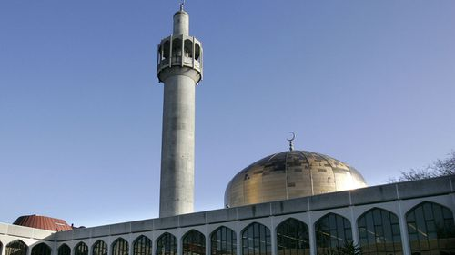 FILE - In this file photo dated Thursday Dec. 7, 2006, Regents Park Mosque in London. British police say a man has been stabbed at the London Central Mosque near Regent's Park, Thursday Feb. 20, 2020.