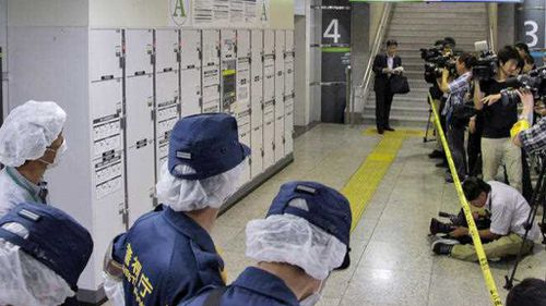 Elderly woman's body stuffed in station locker not found for a month