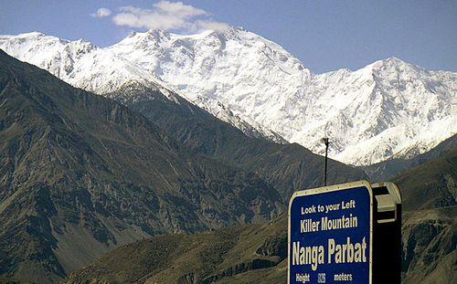 Nanga Parbat in Pakistan, nicknamed 'Killer Mountain'. (Photo: AP).