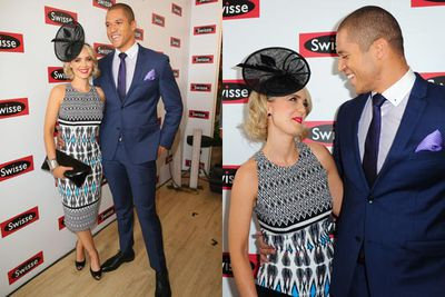 <i>The Bachelor</i>'s Blake Garvey and Louise Pillidge made their first public appearance together as a couple.<br/><br/>Image: AAP