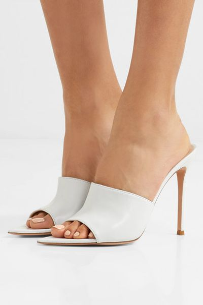 "<p>Wear it with...</p> <p><a href=""https://www.net-a-porter.com/au/en/product/1043555/gianvito_rossi/100-leather-mules"" target=""_blank"" draggable=""false"">Gianvito Rossi 100 Leather Mules in White, $925</a></p>"