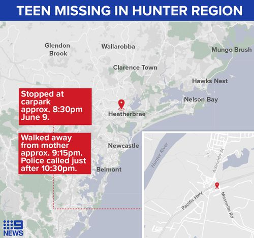 Child missing Pacific Highway Heatherbrae