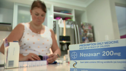 The drug sorafenib is not covered by the PBS for Kate.