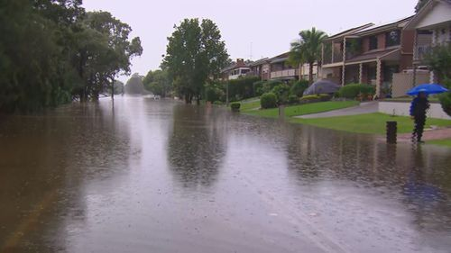 McGrath's Hill, Sydney flooding.