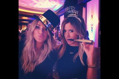 """@ashleytisdale: """"New Years fun with @mparks901"""""""
