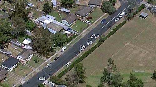 Police operation underway in Riverstone. (9NEWS)