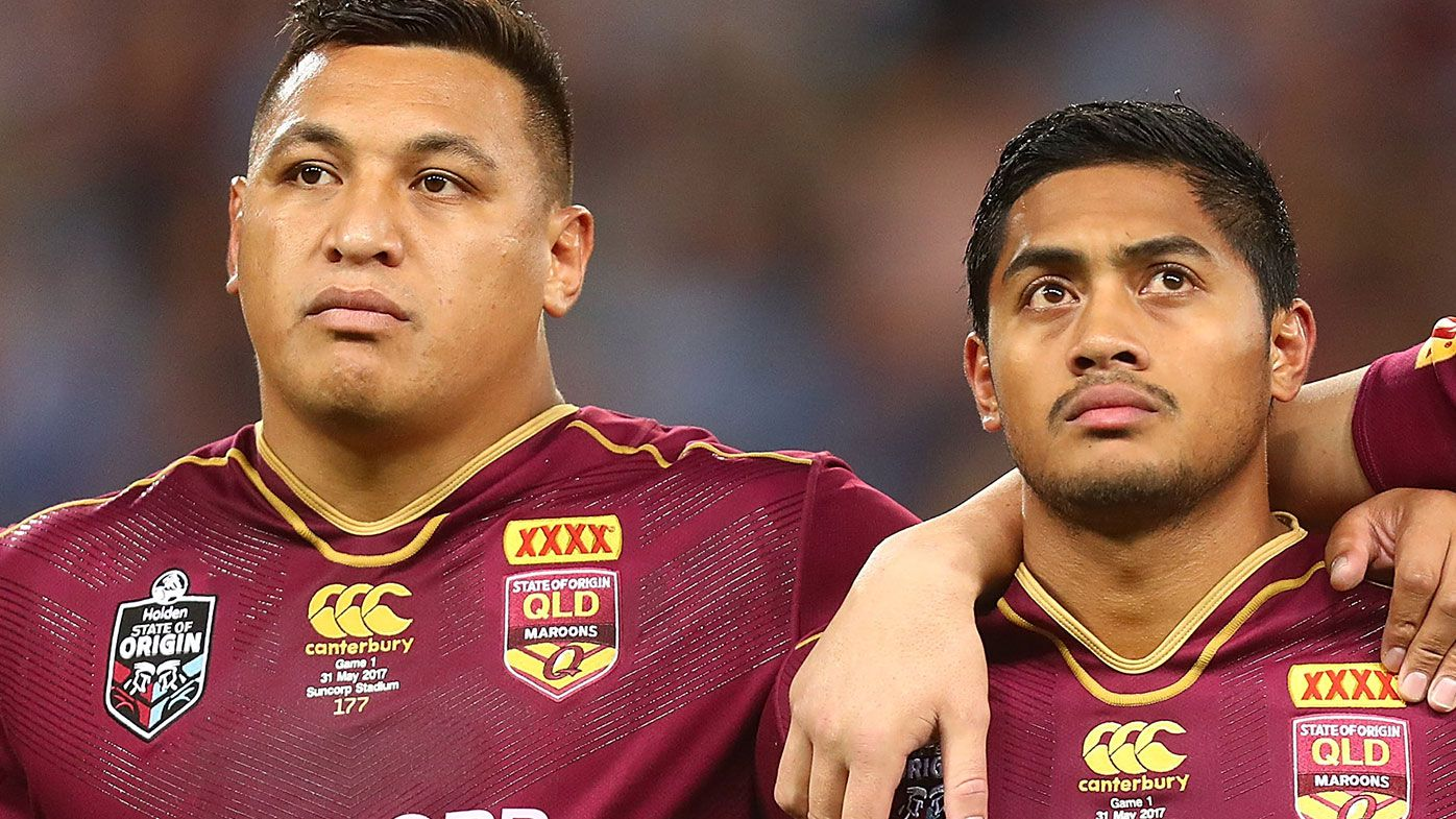Josh Papalii and Anthony Milford representing Queensland