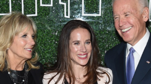 Ashley with her parents Jill and Joe Biden who will be sworn in as 46th US President this week.