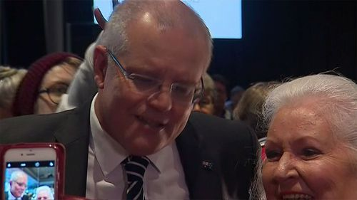 Scott Morrison was hit with an egg in Albury.