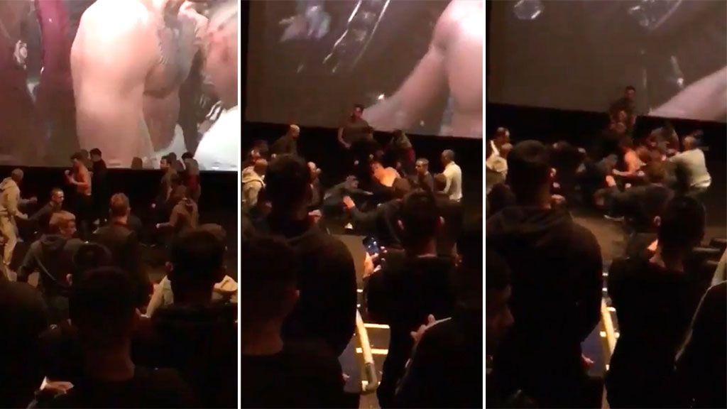 Brawl erupts inside 3D cinema showing of McGregor vs Mayweather fight