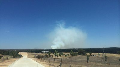 Residents say the smoke is a sign the fire is surging again. (9NEWS)