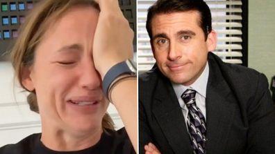 Jennifer Garner sobs after finishing The Office