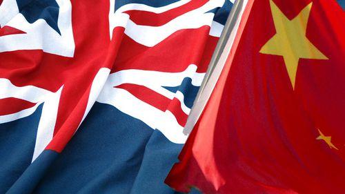 Australian flag, Chinese flag