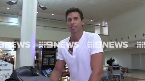 """It was great"": Hackett smiled as he spoke of his rehab stint and returning home to his family. (9NEWS)"