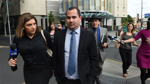 Nathan Day outside court in 2016. (AAP)