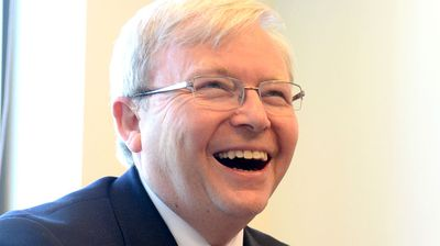 "Former Prime Minister Kevin Rudd used the term ""Happy Little Vegemite"" so much he could have risked legal action. The term was trademarked by food giant Mondelez Australia in 1996. (image AAP)"