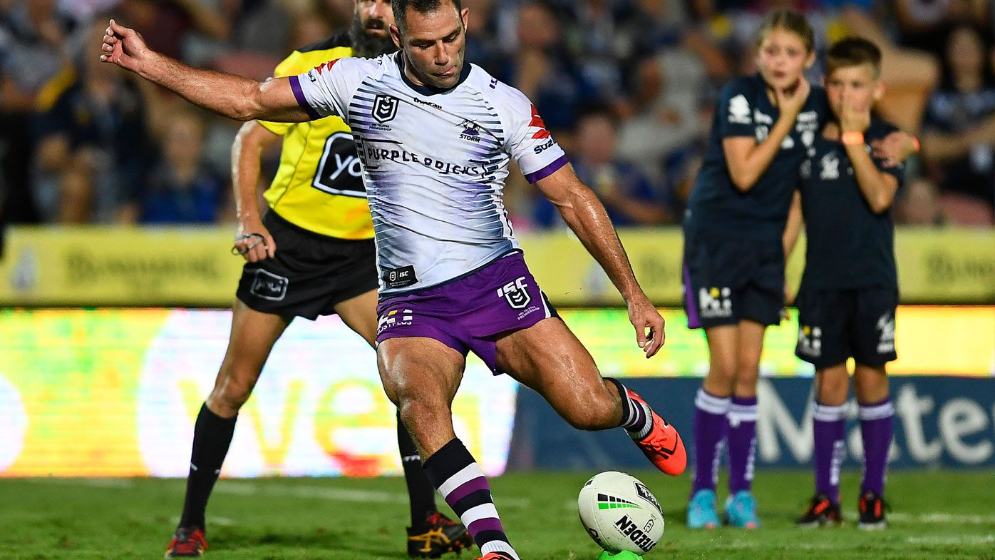 Cameron Smith becomes highest ever point-scorer in NRL history as Storm comeback against Cowboys