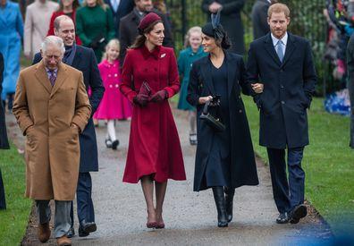 Prince William, Prince Charles, Kate Middleton, Meghan Markle, Prince Harry