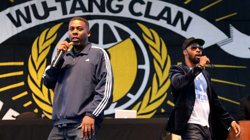GZA and RZA of Wu-Tang Clan performs on stage during the 2015 Riot Fest at Downsview Park in Toronto, Canada