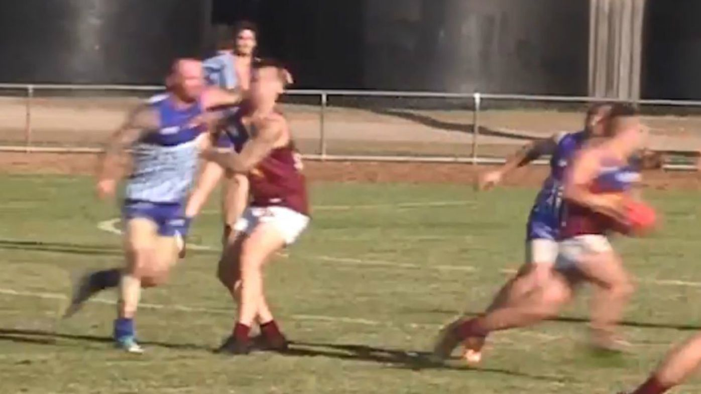 Local AFL player breaks opponent's jaw in sickening attack
