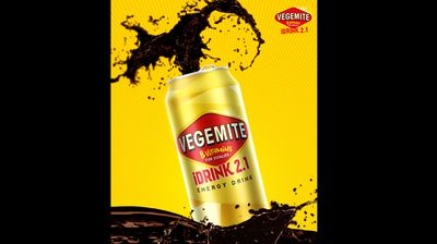 AUSTRALIA: Vegemite's launch of a new energy drink, Vegemite iDRINK 2.1, on its Facebook page.