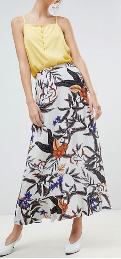 "<a href=""http://www.asos.com/au/gestuz/gestuz-floral-printed-long-skirt/prd/9755095?clr=greyflowerprint&SearchQuery=printed%20skirt&gridcolumn=4&gridrow=1&gridsize=4&pge=1&pgesize=72&totalstyles=318"" target=""_blank"">ASOS Gestuz Floral Printed Long Skirt in Grey Flower Print, $317</a>"