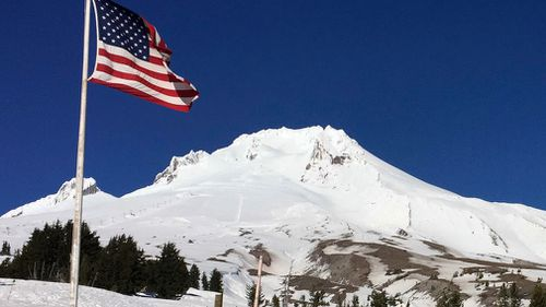 Oregon's Mount Hood is seen from Timberline Lodge on the south side of the mountain. Mount Hood is part of the Pacific Ring of Fire. (Picture: AP)