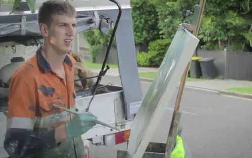 """Dylan Jones is known as the """"Picasso Tradie""""."""