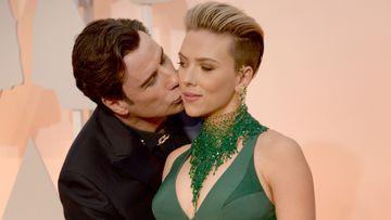 John Travolta and Scarlett Johannsson. (AAP)