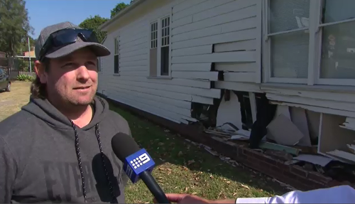 Tenant Mick and his partner were sleeping at the time of the crash. (9NEWS)