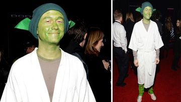 Actor Joseph Gordon-Levitt dressed as Yoda. (Getty)<br /><br /><strong>Click through the gallery to see more stars on the red carpet.</strong>