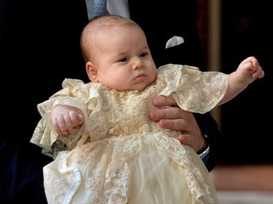 Royal hacks royal christening gown dyed with black tea