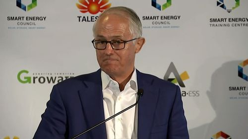Mr Turnbull is speaking at an energy forum in Sydney.