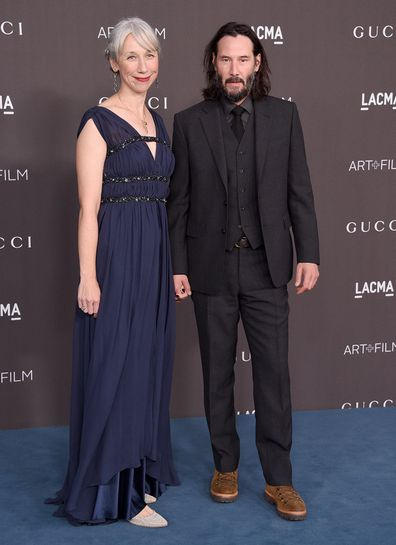 Alexandra Grant and Keanu Reeves at the 2019 LACMA Art + Film Gala on November 2, 2019