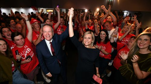 The Super Saturday wins come as a major victory for Bill Shorten who was facing possible leadership challenges if any of the marginal seats were lost. Picture: AAP.