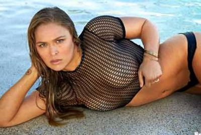 UFC queen Ronda Rousey also stripped down for the SI swimsuit edition.