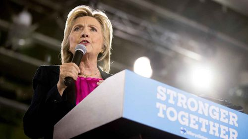 Hillary Clinton campaigning in Tampa, Florida. (AP)