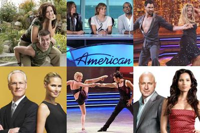 <i>The Amazing Race</i><br/><br/><i>American Idol</i><br/><br/><i>Dancing With the Stars</i><br/><br/><i>Project Runway</i><br/><br/><i>So You Think You Can Dance</i><br/><br/><i>Top Chef</i>