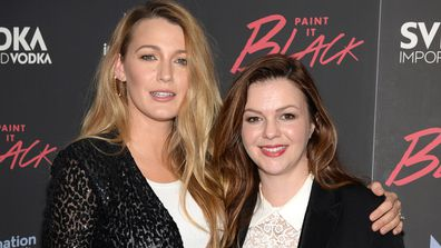 Blake Lively and Amber Tambyln - 'breast' friends. Image: Getty.