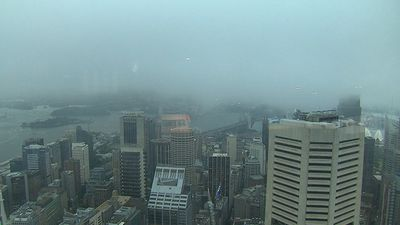 Heavy rain has left Sydney's CBD soaked. (9NEWS)