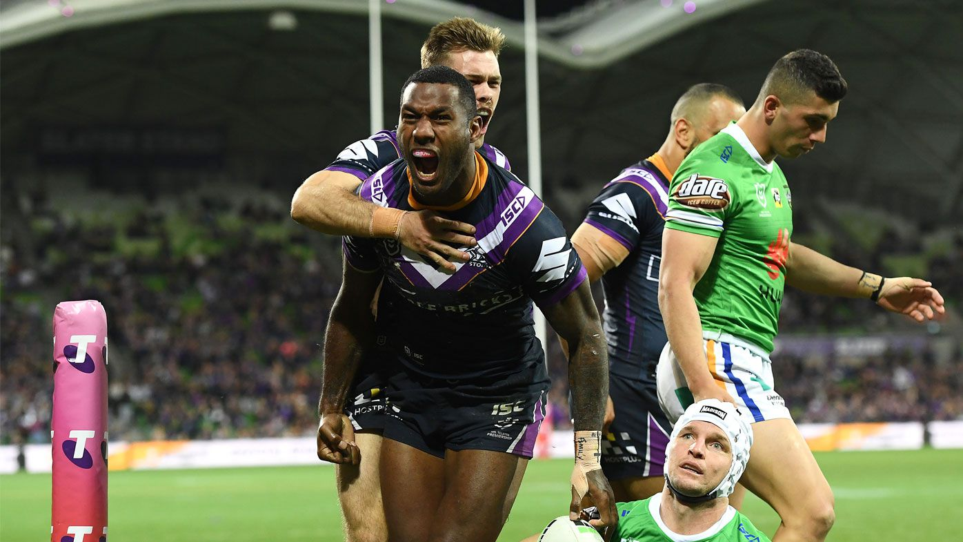 The Storm were downed by the Raiders late in their finals clash