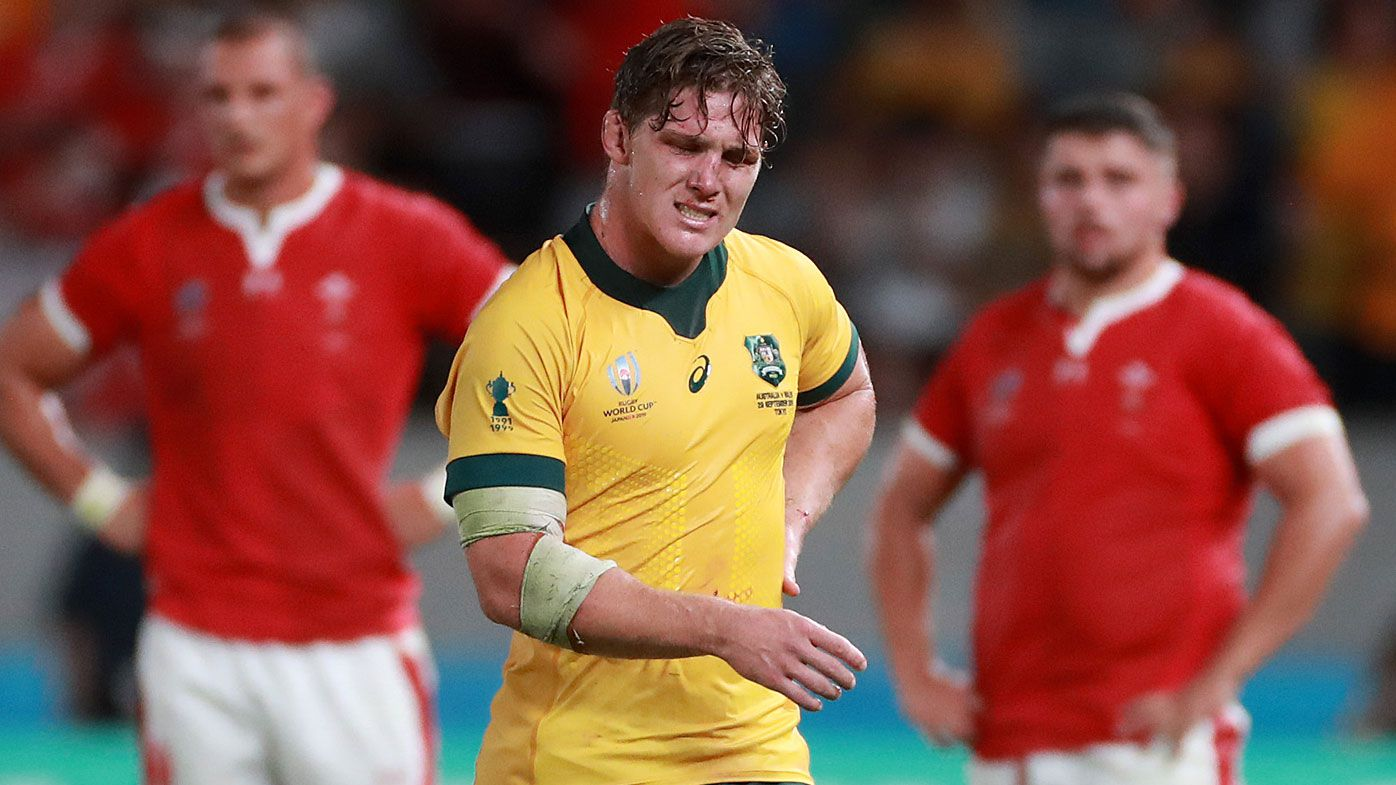 Michael Hooper of Australia reacts following his team's defeat