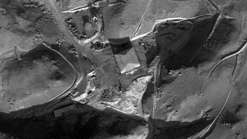 An alleged reactor building of the al-Kibar facility in Deir al-Zour province. (IDF)