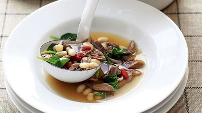 """<a href=""""http://kitchen.nine.com.au/2016/05/19/16/02/slowcooked-lamb-and-white-bean-soup"""" target=""""_top"""">Slow-cooked lamb and white bean soup</a>"""