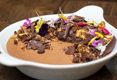 Caramelised chocolate pot de crème