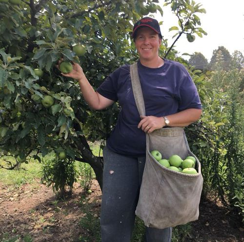 Lynette Rideout is the third generation to run her fruit, vegetable and tree farm in Wollondilly, near Sydney, NSW.