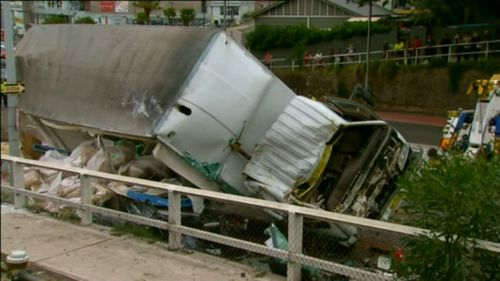 Sarmad Nisan was driving his fully laden truck on Waringah Road. (9NEWS)