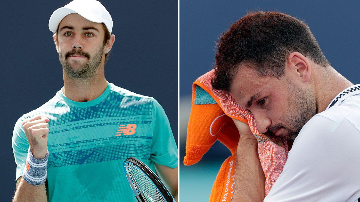 Aussie Jordan Thompson downs Grigor Dimitrov at Miami Open